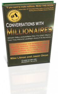 Conversations with Millionaires Jason Oman Mike Litman book cover