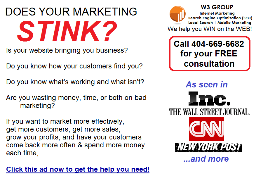 Does your marketing stink ad Clickable Graphic Ads for Online Classifieds