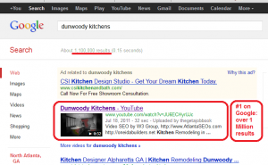 Dunwoody Kitchens video SEO example