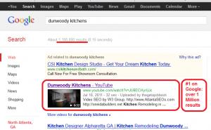 Dunwoody Kitchens video SEO example