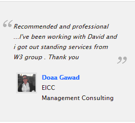 Website development client testimonial EICC Cairo Egypt