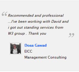 Website development client testimonial EICC Cairo Egypt