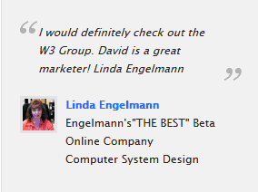 Linda Englemann testimonial W3 Group Marketing Atlanta