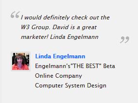 Linda Englemann testimonial W3 Group Marketing Atlanta