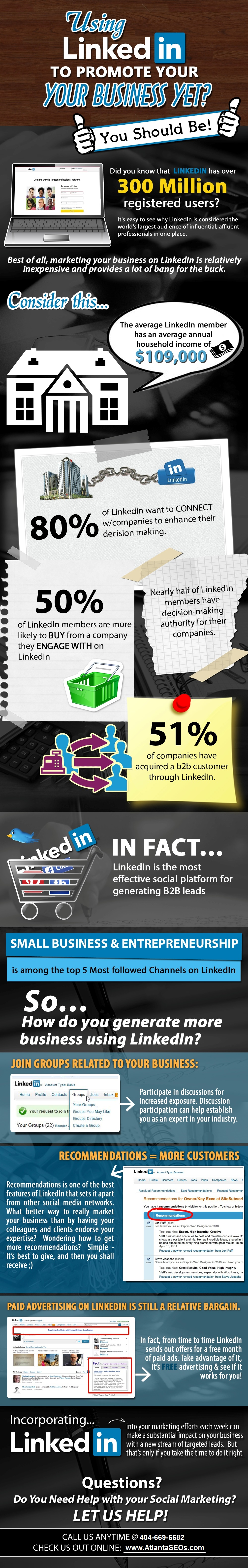 Infographic Are You Using LinkedIn to Promote Your Business Yet