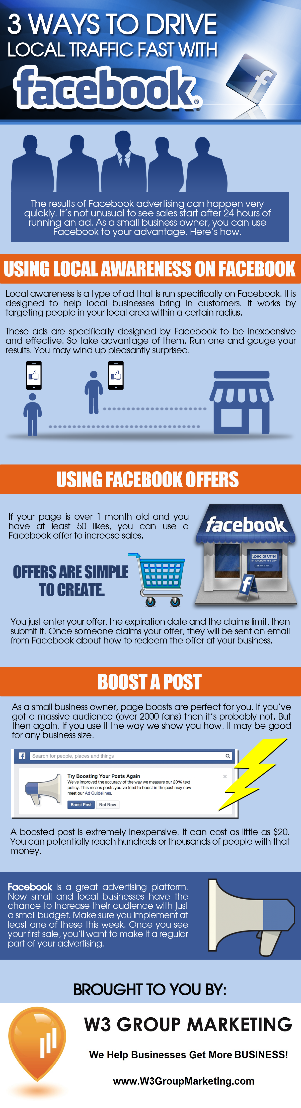 Infographic: Three Ways to Drive Local Traffic Fast with Facebook Advertising
